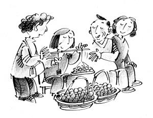 菜市场简笔画-新民晚报 数字报纸图片