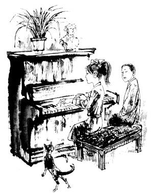 桌子和沙发手绘素描
