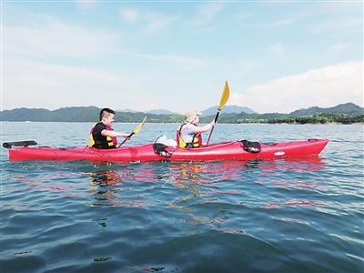 皮划艇 千岛湖