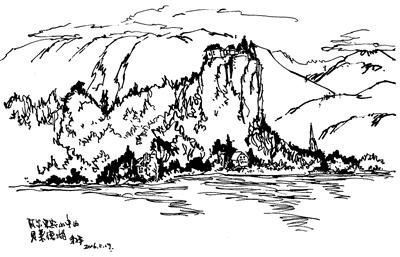 湖单体手绘