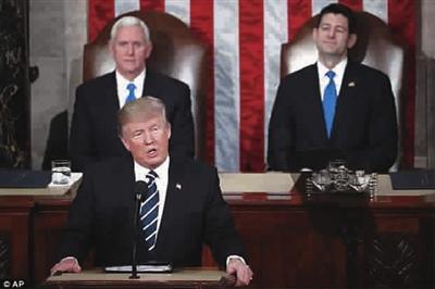■ 特朗普首次在国会发表演讲-特朗普国会 首秀 晒出成绩单图片 70667 400x266