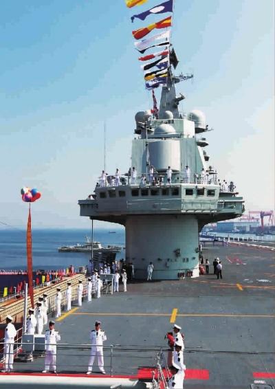 """昨天,我国第一艘航空母舰""""辽宁舰""""在按计划完成建造和试验试航"""