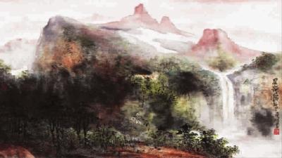 山水风景画作画步骤