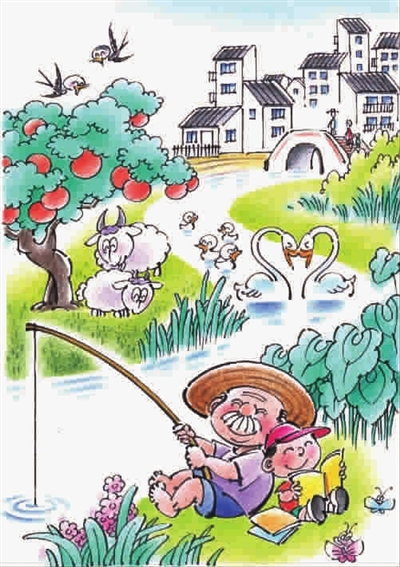 乡村田野手绘漫画