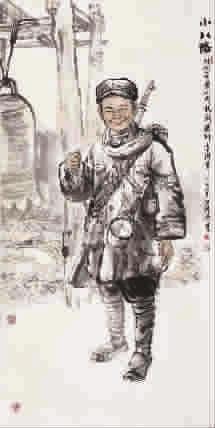 ■ 小八路(国画) 洪钟奇-长城颂