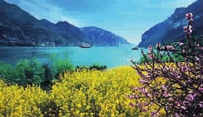 风吹,三峡看春景图片