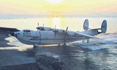 中国海军北海舰队水上飞机部队进行近海超