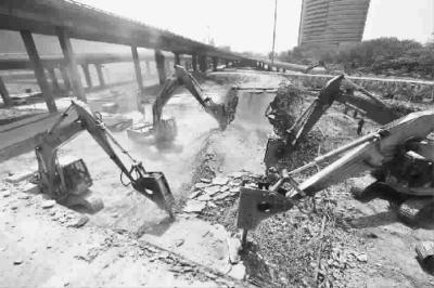 金桥立交桥拆除