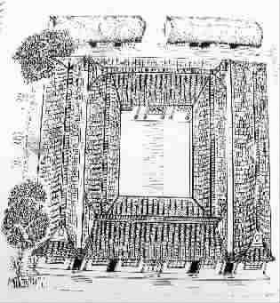 """结构特点及民间读音,将这种房子的写法定名为""""绞圈"""