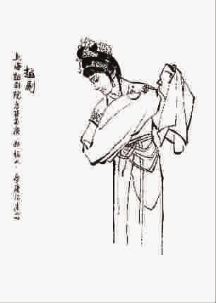 长袖古装人物手绘