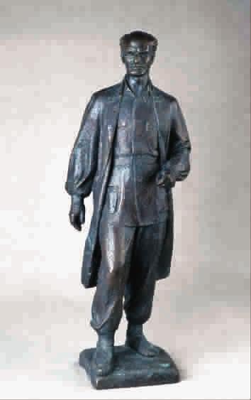 铁路工人劳动  雕塑