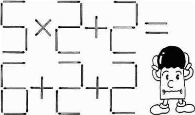 下图中有一个用火柴摆放出的算式