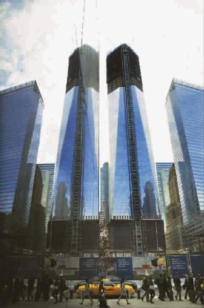 世贸中心重回纽约第一高度