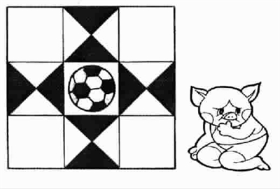 图中有多少个正方形,三角形里