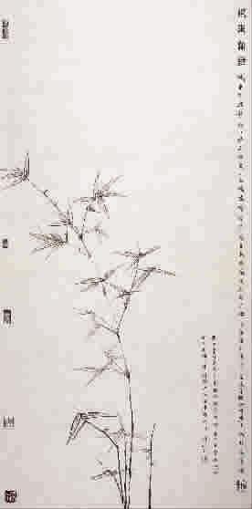 梅花图腾手绘黑白