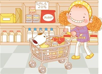 有关食物的卡通图片