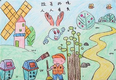 绿色家园绘画作品-绿色家园绘画作品大全,绿色家园儿童画作品展,儿童